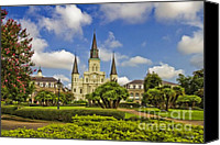 Catholic Church Canvas Prints - St. Louis Cathedral  Canvas Print by Scott Pellegrin