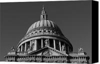 Christopher Wren Canvas Prints - St Pauls Cathedral London Canvas Print by David Pyatt