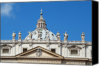 Rome Canvas Prints - St Peter in Vatican Canvas Print by George Atsametakis