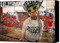 Photo-manipulation Canvas Prints - Street Phenomenon Lil Wayne Canvas Print by The DigArtisT