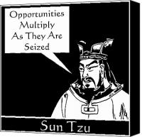 Ancient Digital Art Canvas Prints - Sun Tzu Canvas Print by War Is Hell Store