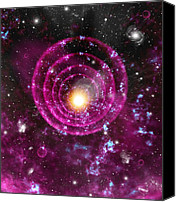 Grb Canvas Prints - Supernova Explosion, Artwork Canvas Print by Mehau Kulyk