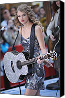 Half-length Canvas Prints - Taylor Swift On Stage For Nbc Today Canvas Print by Everett