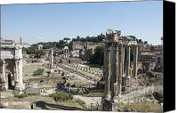 Run Down Canvas Prints - Temple of Saturn in the Forum Romanum. Rome Canvas Print by Bernard Jaubert