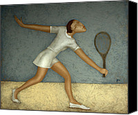 Body Canvas Prints - Tennis Canvas Print by Nicolay  Reznichenko