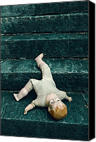 Creepy Canvas Prints - The Doll Canvas Print by Joana Kruse