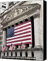 City Streets Photo Canvas Prints - The Facade Of The New York Stock Canvas Print by Justin Guariglia