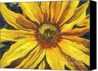 Dewy Painting Canvas Prints - The flower Canvas Print by Odon Czintos