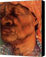 People Pastels Canvas Prints - The Gaze Of Mother Witt Canvas Print by Curtis James