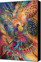 Signed Painting Canvas Prints - The Magic Garden Canvas Print by Elena Kotliarker