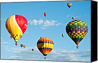 Balloon Fiesta Canvas Prints - 3 Together Canvas Print by Jim Chamberlain