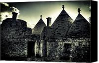 Old Houses Canvas Prints - Trulli Canvas Print by Joana Kruse
