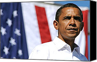 Portrait Barack Obama Canvas Prints - Us Democratic Presidential Candidate Canvas Print by Everett