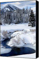 Craggy Canvas Prints - Wasatch Mountains in Winter Canvas Print by Utah Images