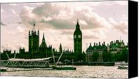 London Skyline Canvas Prints - Westminster Canvas Print by Dawn OConnor
