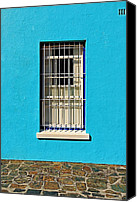 Turquois Canvas Prints - Windows of Bo-Kaap Canvas Print by Benjamin Matthijs