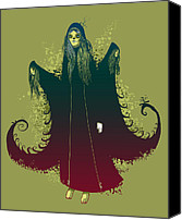Featured Canvas Prints - 3 Witches Canvas Print by Michael Myers