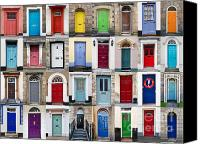 Door Handles Canvas Prints - 32 Front Doors Horizontal Collage  Canvas Print by Richard Thomas