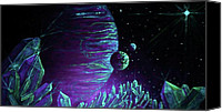 Glow In The Dark Art Canvas Prints - Cosmic Light Series Canvas Print by Len Sodenkamp