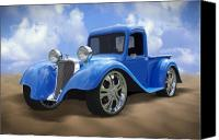 Grill Canvas Prints - 34 Dodge Pickup Canvas Print by Mike McGlothlen