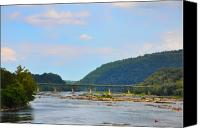 Harpers Ferry Canvas Prints - 340 Bridge Harpers Ferry Canvas Print by Bill Cannon