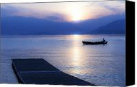 Pier Canvas Prints - Lake Maggiore Canvas Print by Joana Kruse