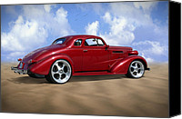 Hot Rod Car Canvas Prints - 37 Chevy Coupe Canvas Print by Mike McGlothlen