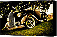 Custom Ford Canvas Prints - 37 Ford Pickup Canvas Print by Phil