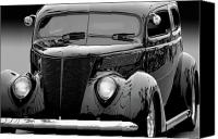 Custom Ford Canvas Prints - 37 Tudor Canvas Print by Bill Dutting