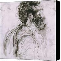 Iris Gill Drawings Canvas Prints - Untitled Canvas Print by Iris Gill