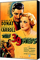 1935 Movies Canvas Prints - 39 Steps, The, Robert Donat, Madeleine Canvas Print by Everett
