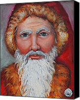 Greeting Cards Canvas Prints - 3D Santa Canvas Print by Enzie Shahmiri