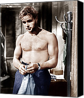 Films By Elia Kazan Canvas Prints - A Streetcar Named Desire, Marlon Canvas Print by Everett