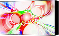 Abstract Stars Digital Art Canvas Prints - Abstract Of Circle  Canvas Print by Setsiri Silapasuwanchai
