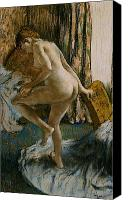 Girls Pastels Canvas Prints - After the Bath Canvas Print by Edgar Degas