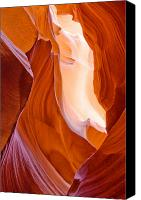 Antelope Canvas Prints - Antelope Canyon Canvas Print by Carl Amoth