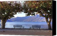 Autumn Foliage Canvas Prints - Ascona - Lake Maggiore Canvas Print by Joana Kruse