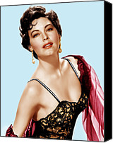 Gold Earrings Photo Canvas Prints - Ava Gardner, Ca. 1950s Canvas Print by Everett