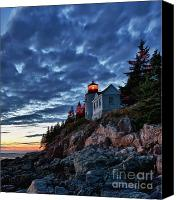 New England Canvas Prints - Bass Harbor Lighthouse Canvas Print by John Greim