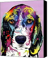 Animal Art Mixed Media Canvas Prints - Beagle Canvas Print by Dean Russo