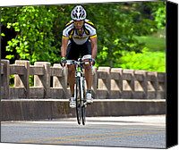 Susan Leggett Canvas Prints - Bicycle Ride Across Georgia  Canvas Print by Susan Leggett