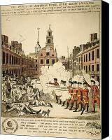 Gunfire Canvas Prints - Boston Massacre, 1770 Canvas Print by Granger