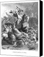 Bridle Canvas Prints - CHARLES MARTEL (c688-741) Canvas Print by Granger