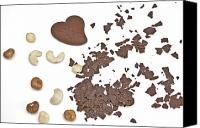 Nuts Canvas Prints - Chocolate heart Canvas Print by Joana Kruse