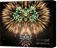 Independance Day Canvas Prints - Firework Canvas Print by Odon Czintos