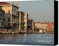 Town Pyrography Canvas Prints - Grand Canal. VENICE Canvas Print by Bernard Jaubert