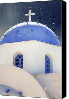 Star Canvas Prints - Greek Chapel Canvas Print by Joana Kruse