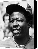 Shea Stadium Canvas Prints - Hank Aaron (1934- ) Canvas Print by Granger