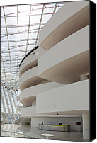 Abstract Building Canvas Prints - Kauffman Center for Performing Arts Canvas Print by Mike McGlothlen
