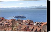 Lake Constance Canvas Prints - Lake Constance Meersburg Canvas Print by Joana Kruse